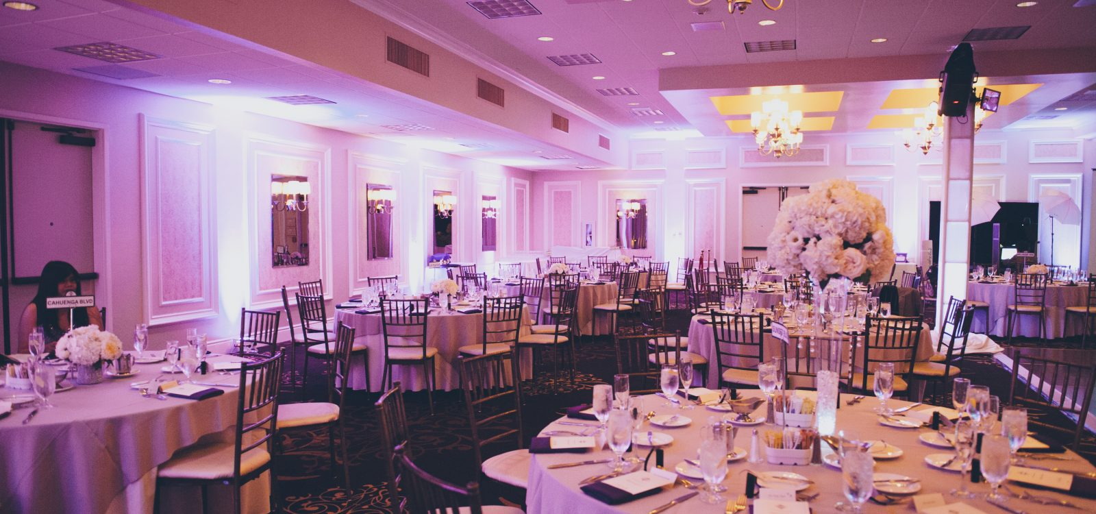 wedding banquet services available at The Garland Hotel in North Hollywood