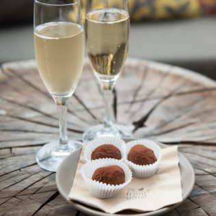 Champagne and chocolates at The Front Yard