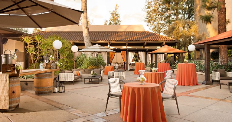 outdoor meeting and event space in North Hollywood at The Garland Hotel