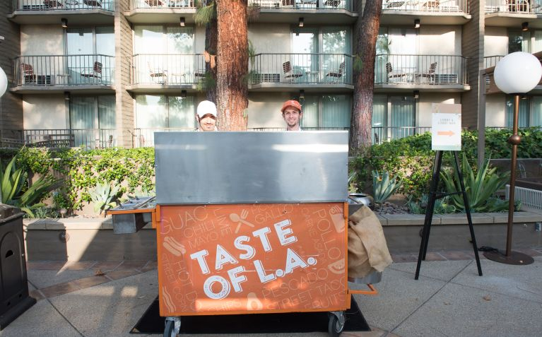 taste of LA food cart at The Garland Hotel