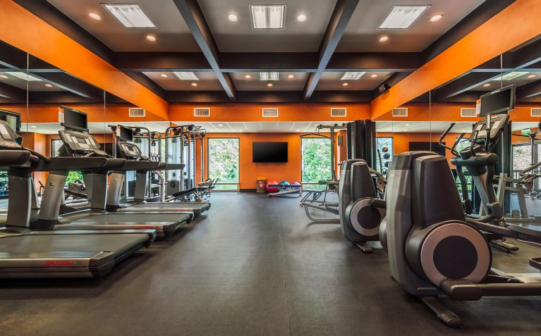 fitness center at The Garland Hotel